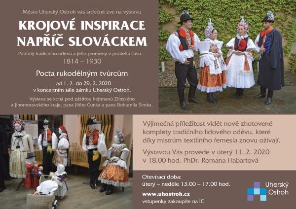 Krojové inspirace napříč Slováckem - nová výstava na ostrožském zámku